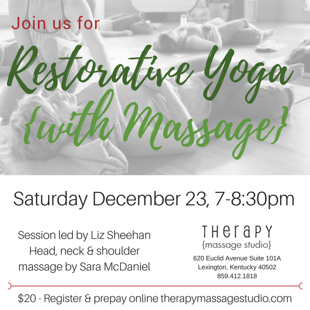 Restorative yoga with massage