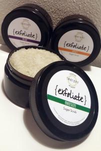products - exfoliate - sugar scrubs