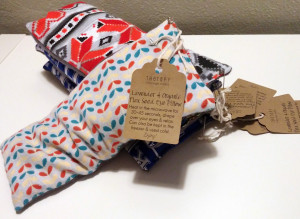 products - lavender & organic flax seed eye pillow